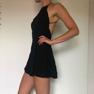 Black dress - open back - size xs